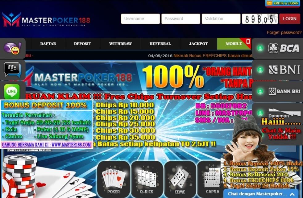 September 2016 – Info Poker Online Indonesia IDN
